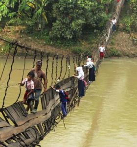 bridge to school
